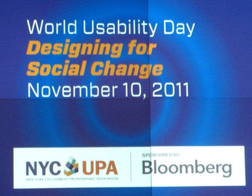 NYC UPA World Usability Day 2011